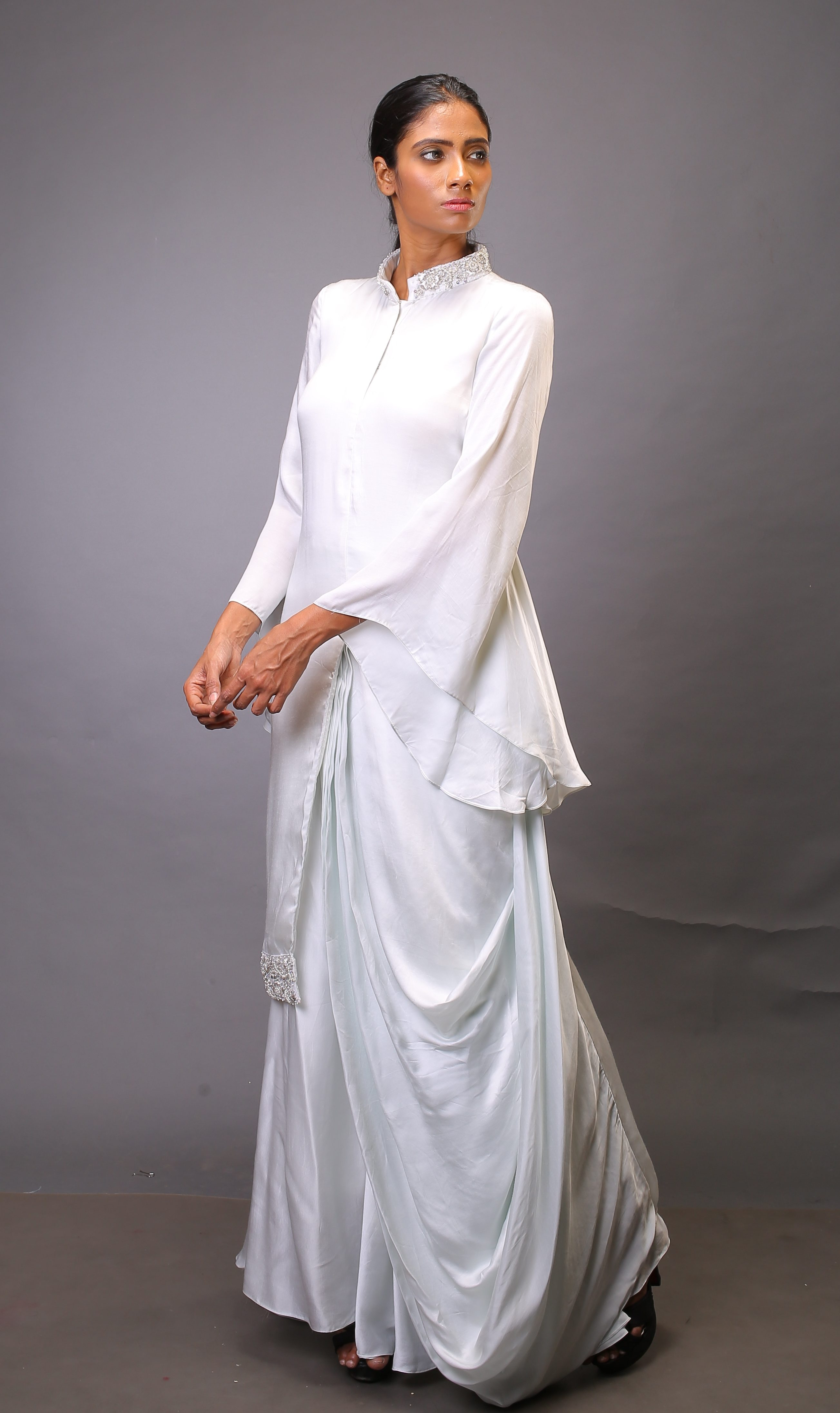 Indo Western Draped Dress Albari Fashion